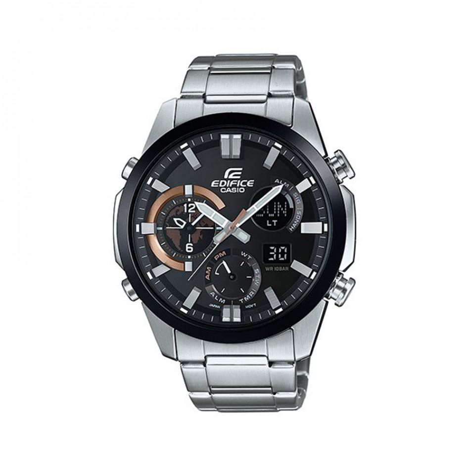 Мъжки часовник Casio Edifice сребрист браслет с термометър ERA500DB1AER