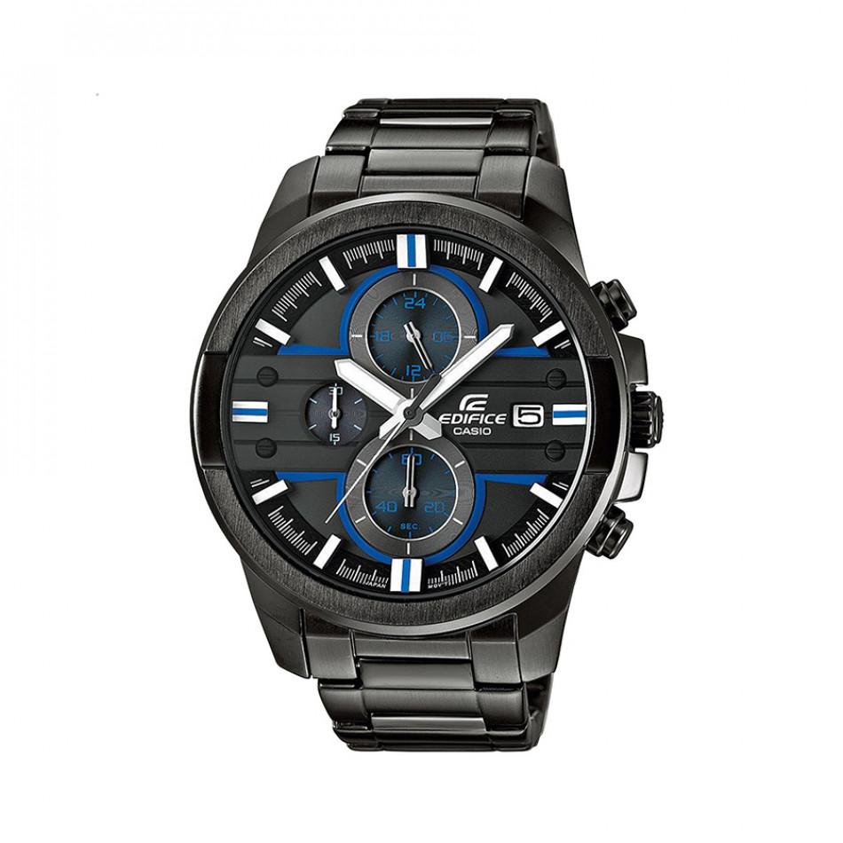 Мъжки часовник Casio Edifice черен браслет със сини детайли EFR543BK1A2VUEF
