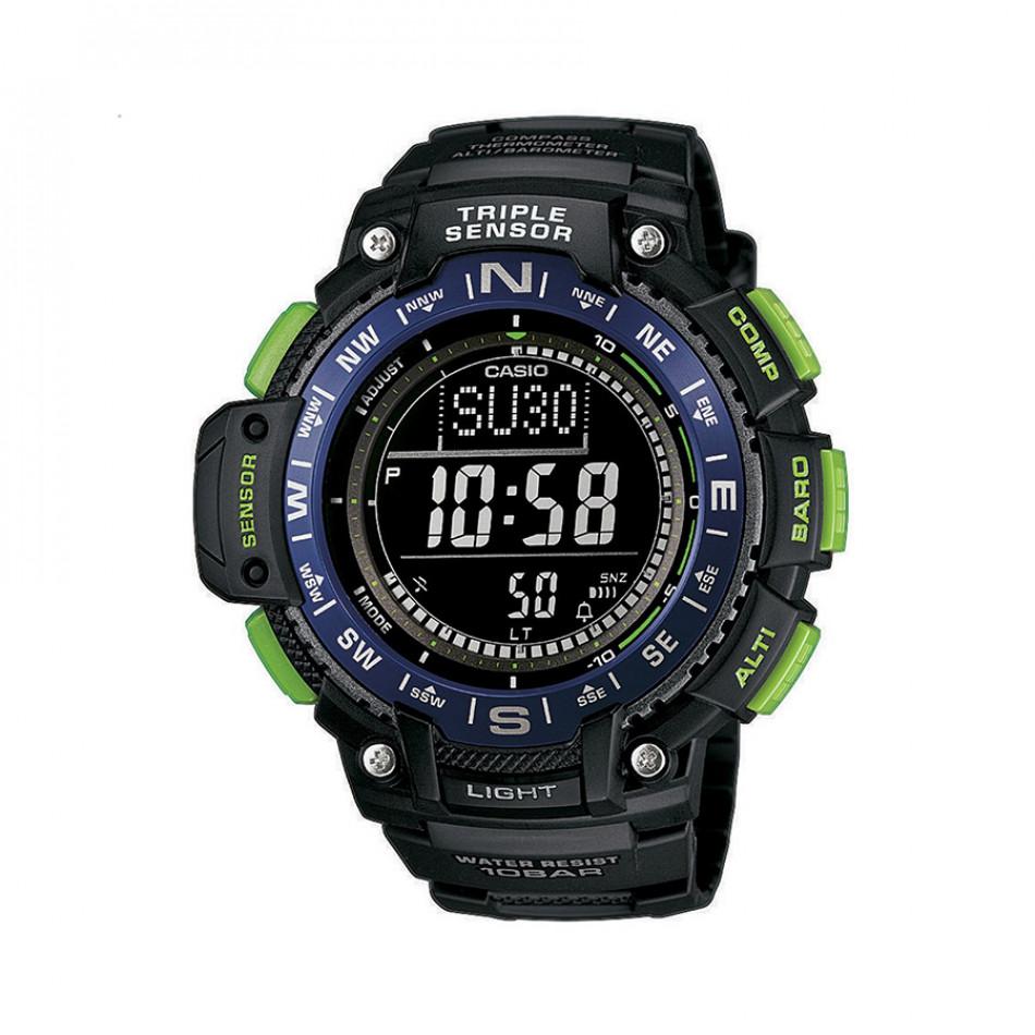 Мъжки часовник Casio Outdoor черен със зелени бутони SGW10002BER
