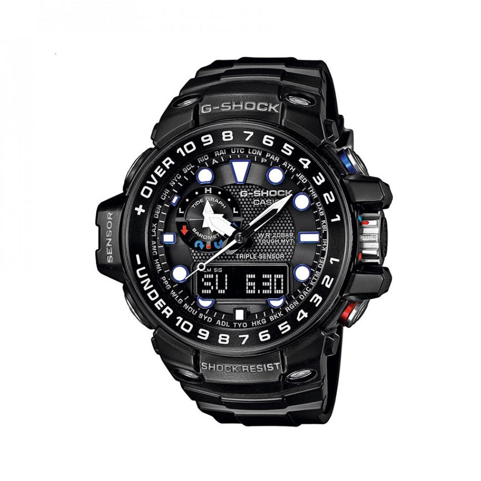 Мъжки спортен часовник Casio G-SHOCK черен с цветни детайли на бутоните GWN1000B1AER