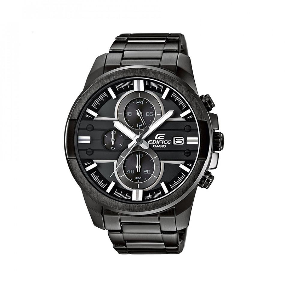 Мъжки часовник Casio Edifice черен браслет с бели детайли EFR543BK1A8VUEF