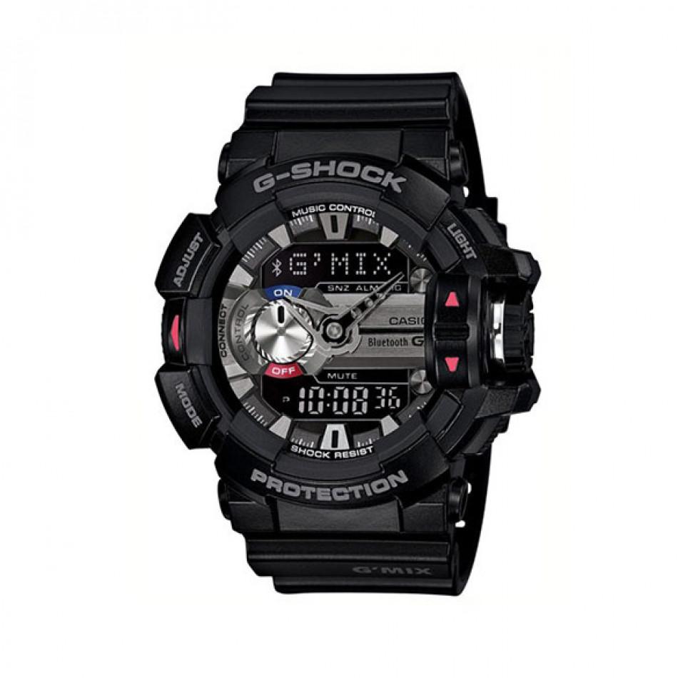 Мъжки спортен часовник Casio G-SHOCK черен със сив дисплей GBA4001AER