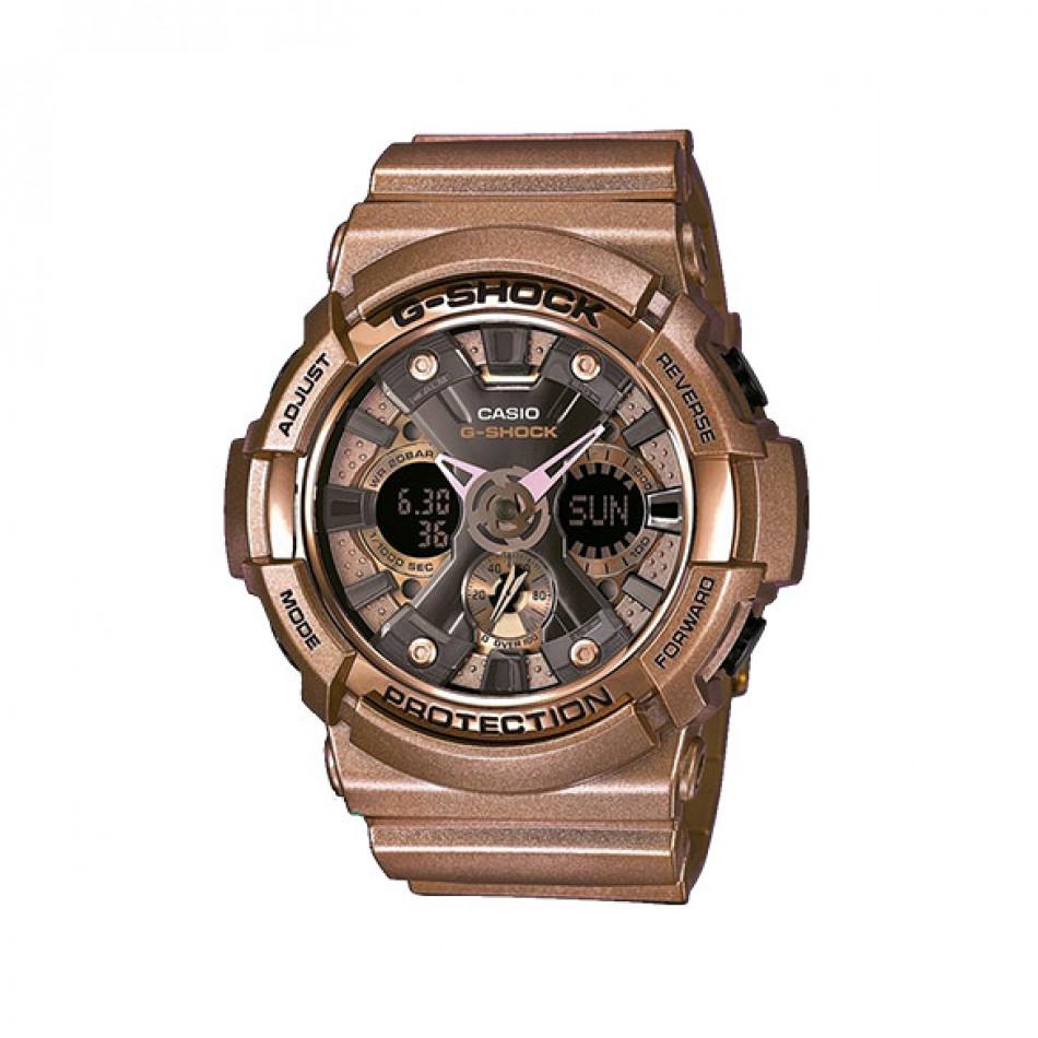 Мъжки спортен часовник Casio G-SHOCK с цвят на старо злато GA200GD9BER