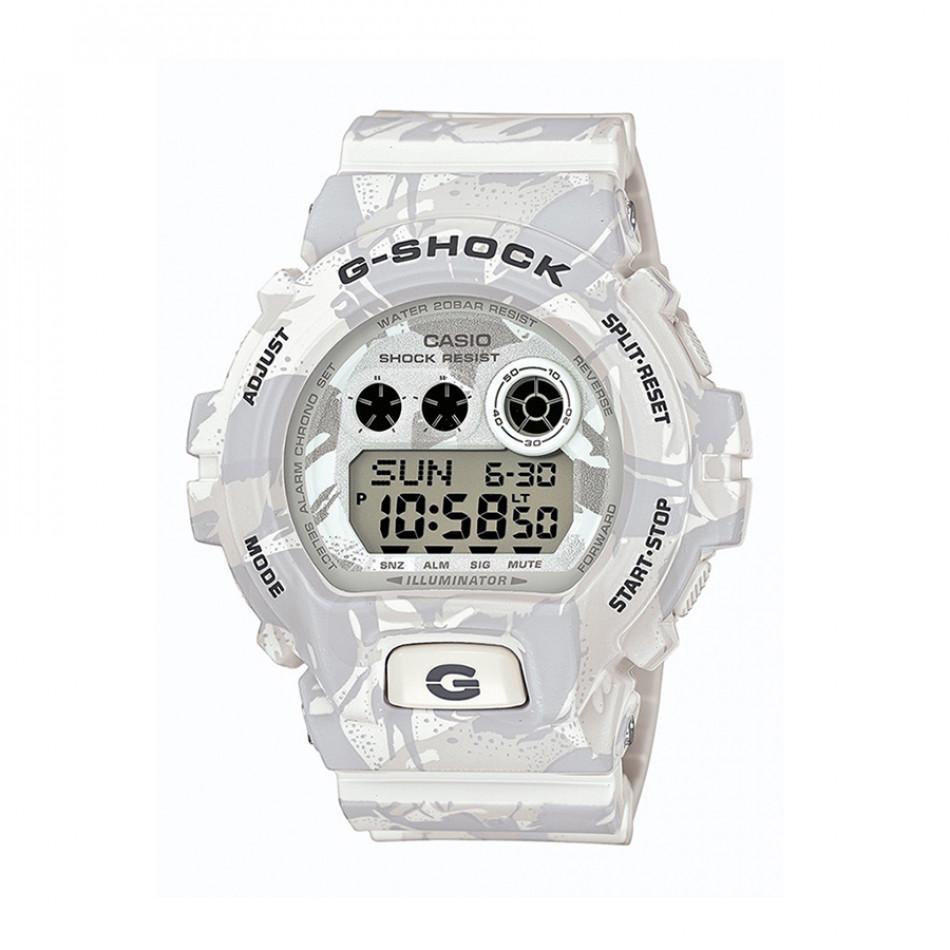 Мъжки спортен часовник Casio G-SHOCK бял камуфлаж GDX6900MC7ER