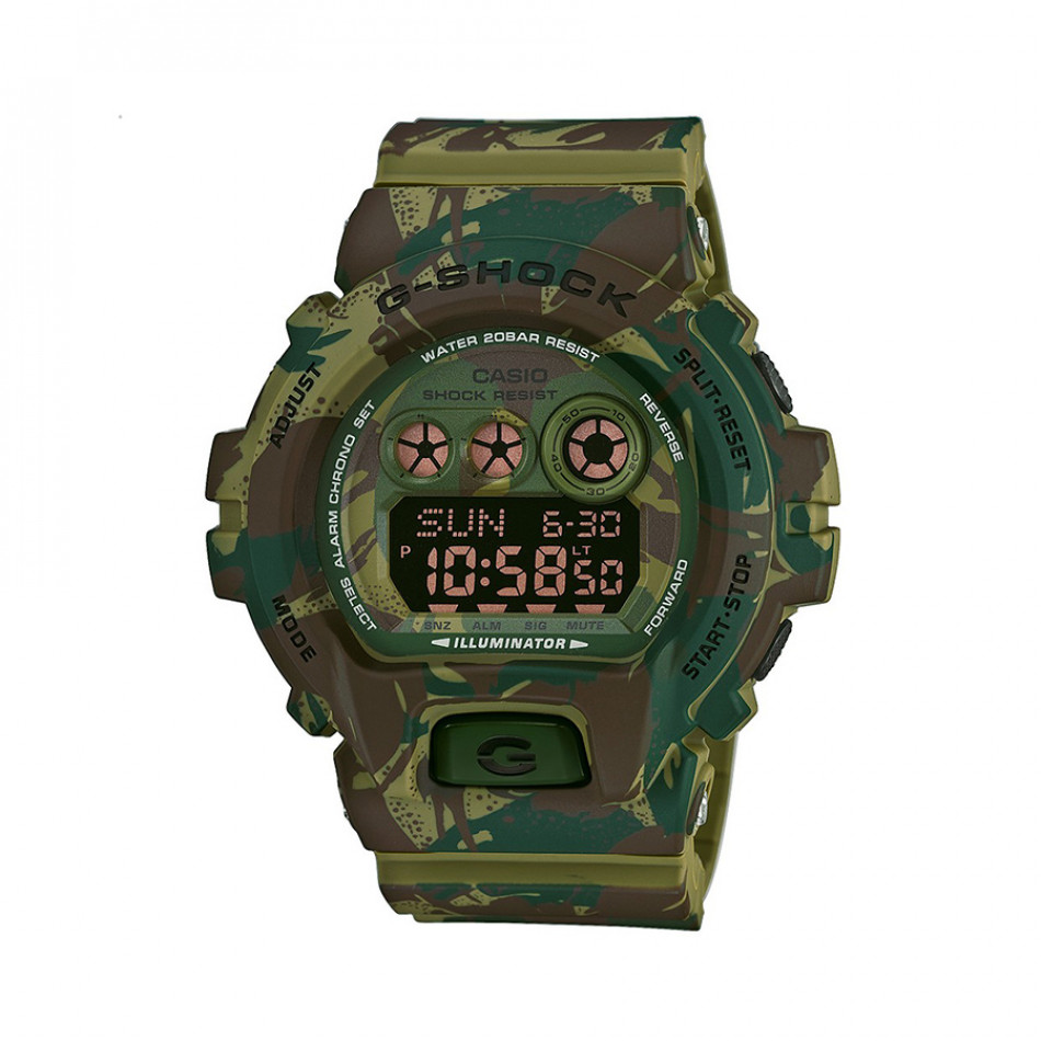 Мъжки спортен часовник Casio G-SHOCK зелен камуфлаж GDX6900MC3ER