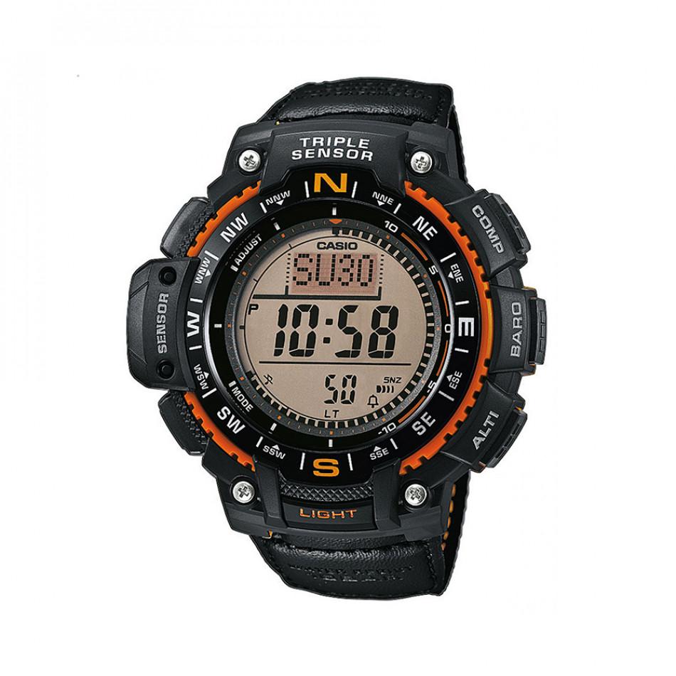 Мъжки часовник Casio Outdoor черен с оранжеви детайли SGW1000B4AER