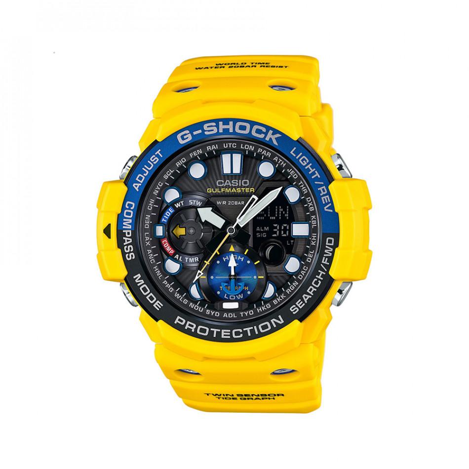 Мъжки спортен часовник Casio G-SHOCK жълт с дигитален компас GN10009AER