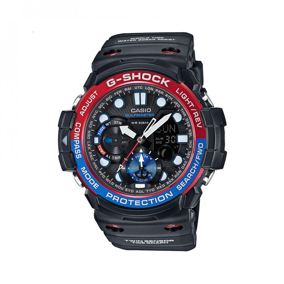 Мъжки спортен часовник Casio G-SHOCK черен с двуцветен ринг на циферблата GN10001AER
