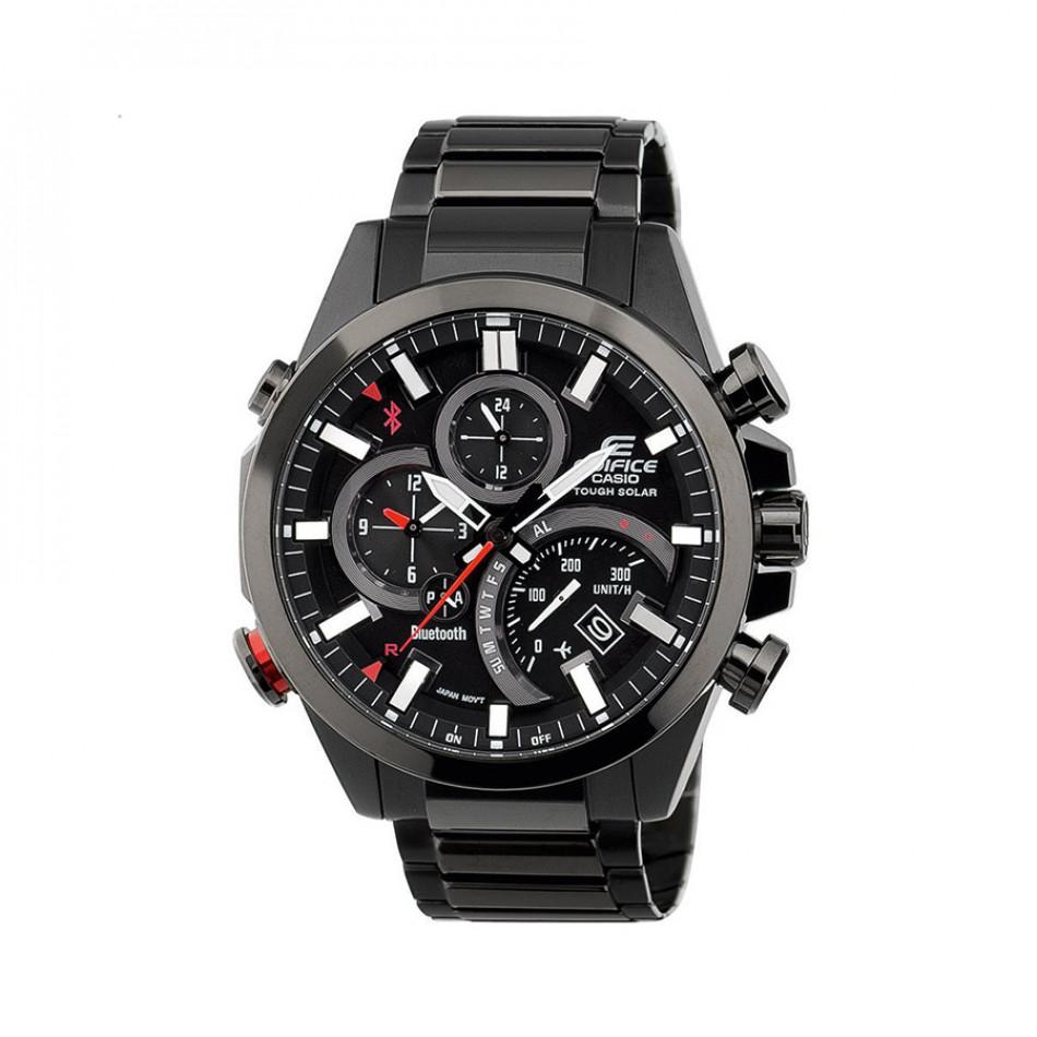 Мъжки часовник Casio Edifice черен браслет с функция за намиране на телефона EQB500DC1AER