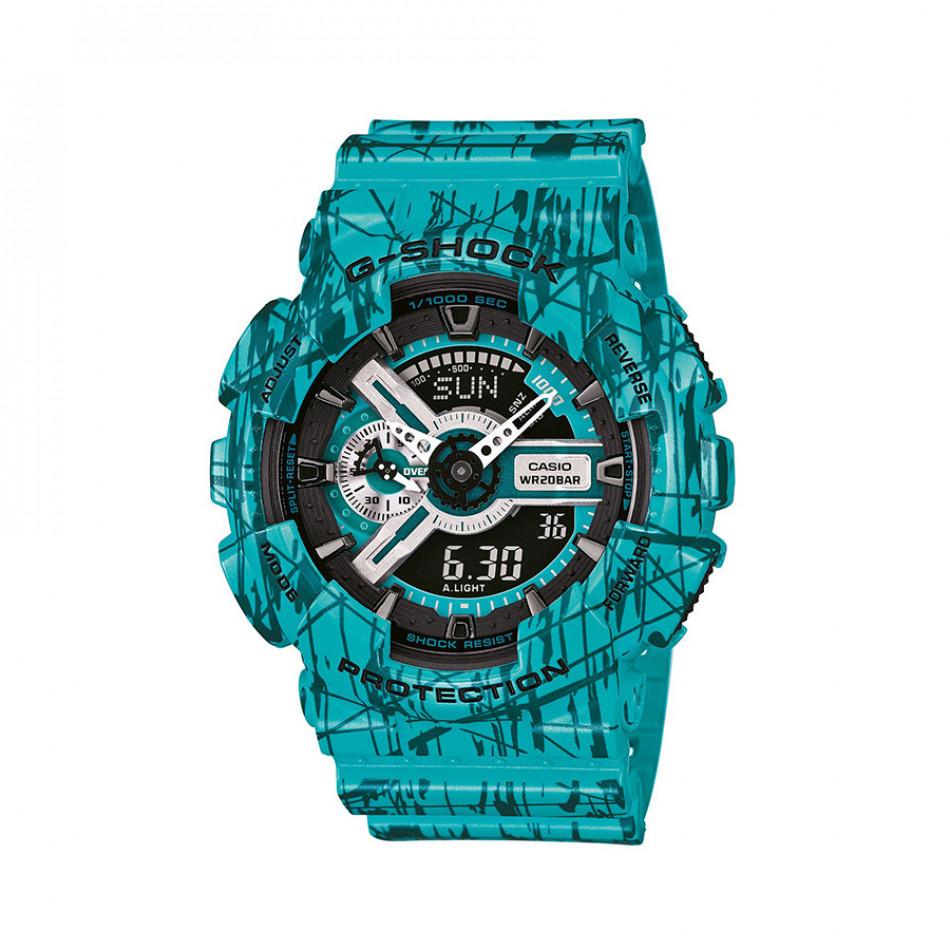 Мъжки спортен часовник Casio G-SHOCK зелен с черни детайли GA110SL3AER