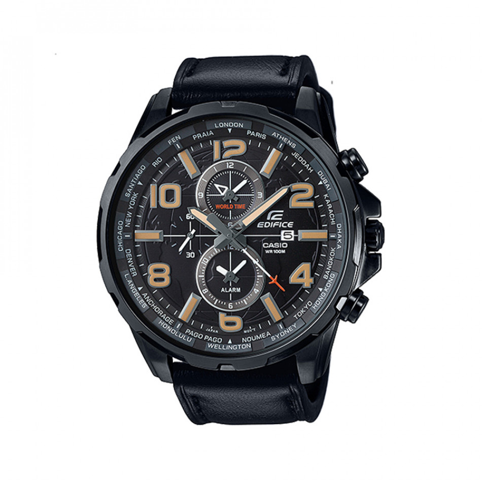 Мъжки часовник Casio Edifice черен с бежови цифри EFR302L1AVUEV
