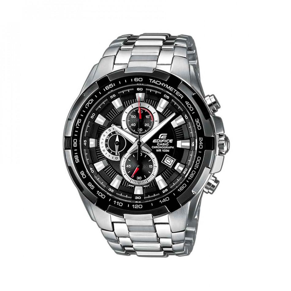 Мъжки часовник Casio Edifice сребрист браслет със завиващ се заден капак EF539D1AVEF