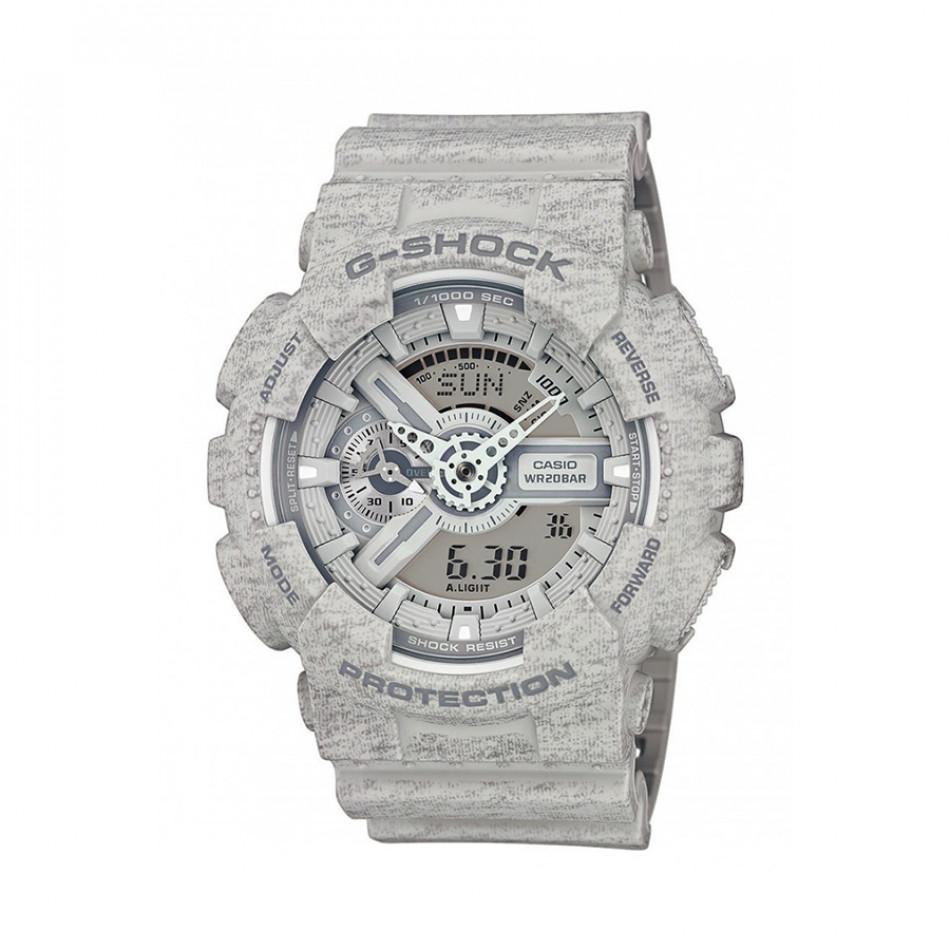 Мъжки спортен часовник Casio G-SHOCK сив със захабен ефект GA110HT8AER