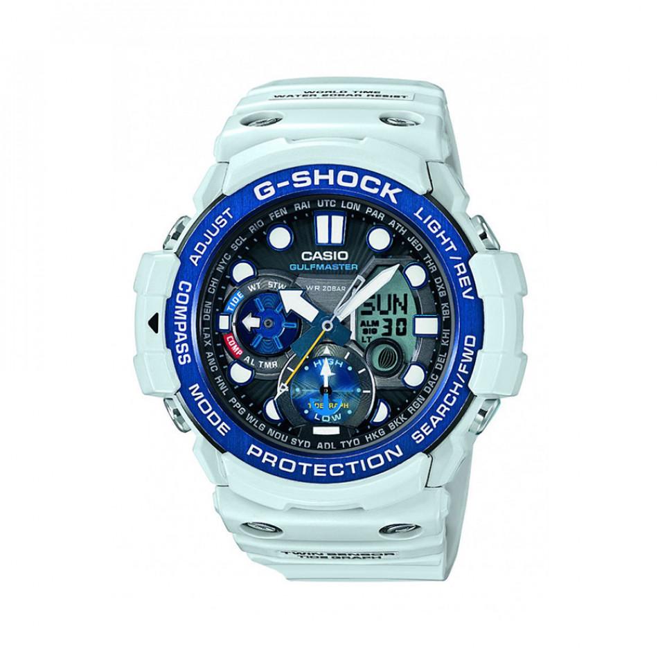 Мъжки спортен часовник Casio G-SHOCK светло син със син ринг на циферблата GN1000C8AER