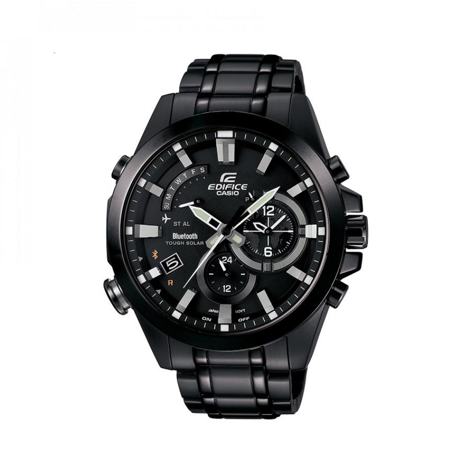 """Мъжки часовник Casio Edifice черен браслет с режим """"полет"""" EQB510DC1AER"""