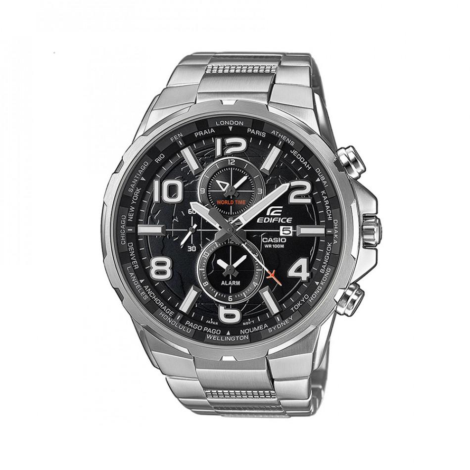 Мъжки часовник Casio Edifice сребрист браслет кварцов хронограф EFR302D1AVUEF
