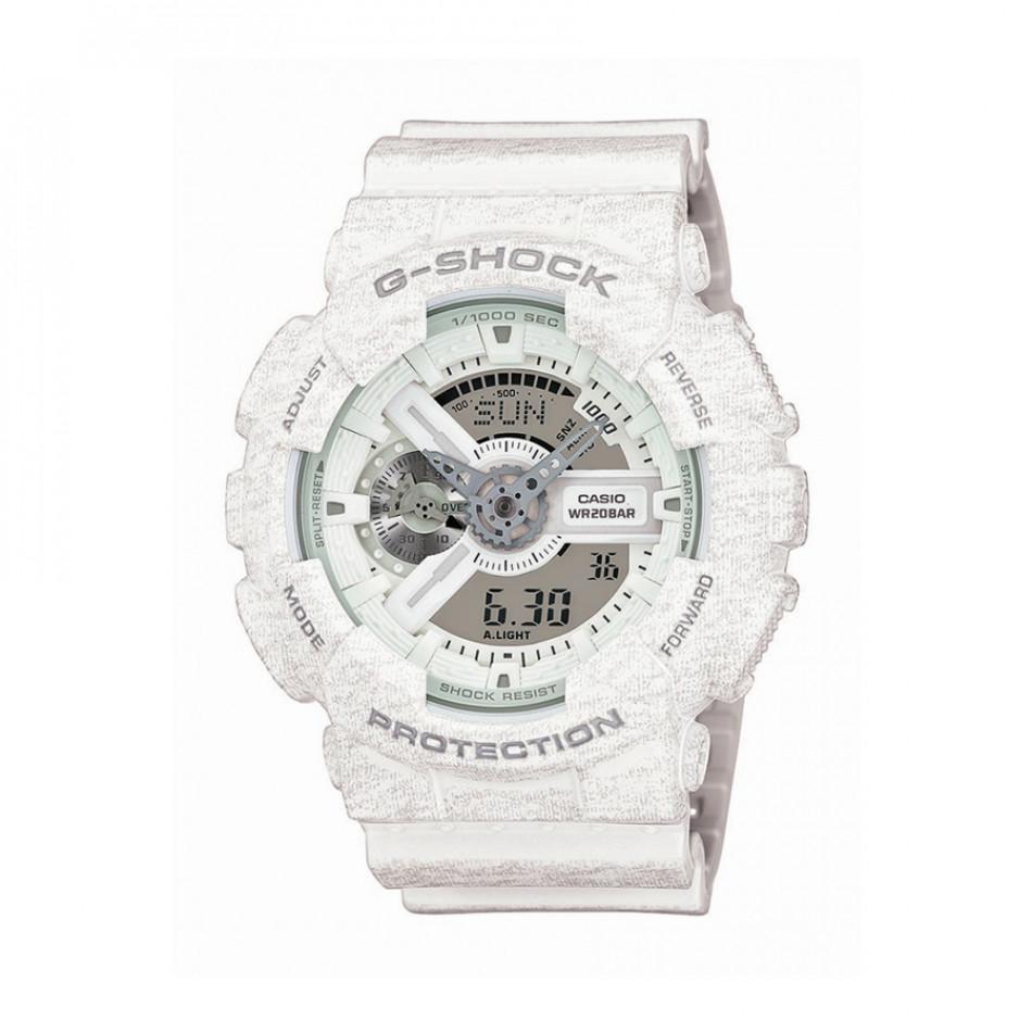 Мъжки спортен часовник Casio G-SHOCK бял със захабен ефект GA110HT7AER