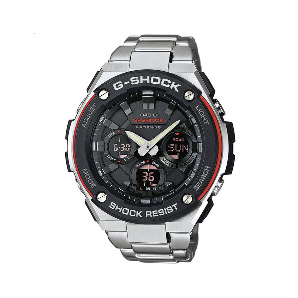 Мъжки часовник Casio G-SHOCK браслет сива стомана GSTW100D1A4ER