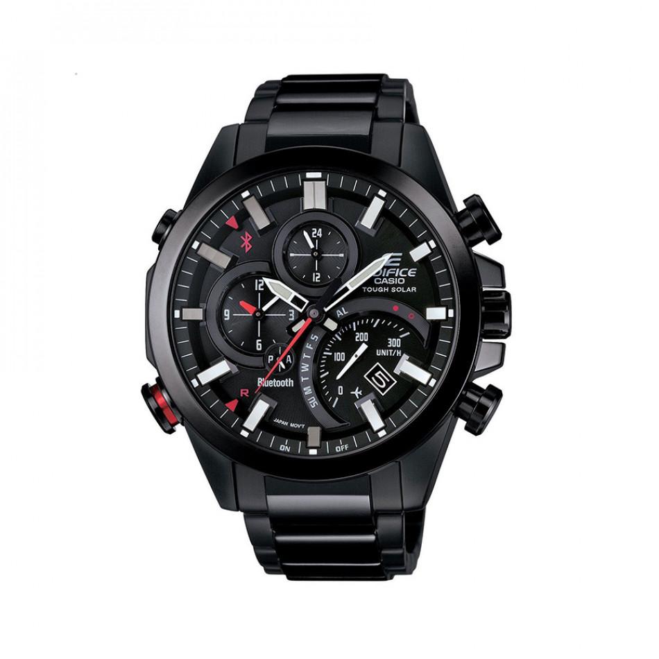 Мъжки часовник Casio Edifice черен браслет със самолетен режим ECB500DC1AER