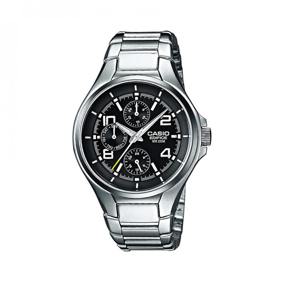 Мъжки часовник Casio Edifice сребрист браслет с бели цифри EF316D1AVEF