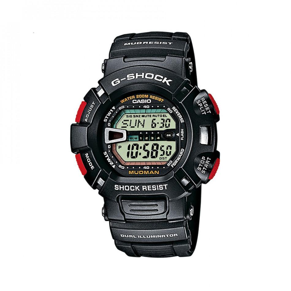 Мъжки спортен часовник Casio G-SHOCK черен с червени бутони G90001VER