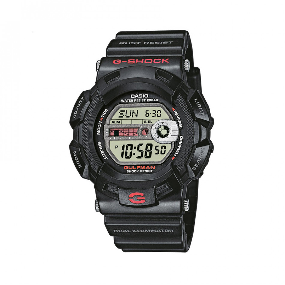 Мъжки спортен часовник Casio G-SHOCK черен устойчив на ниски температури G91001ER