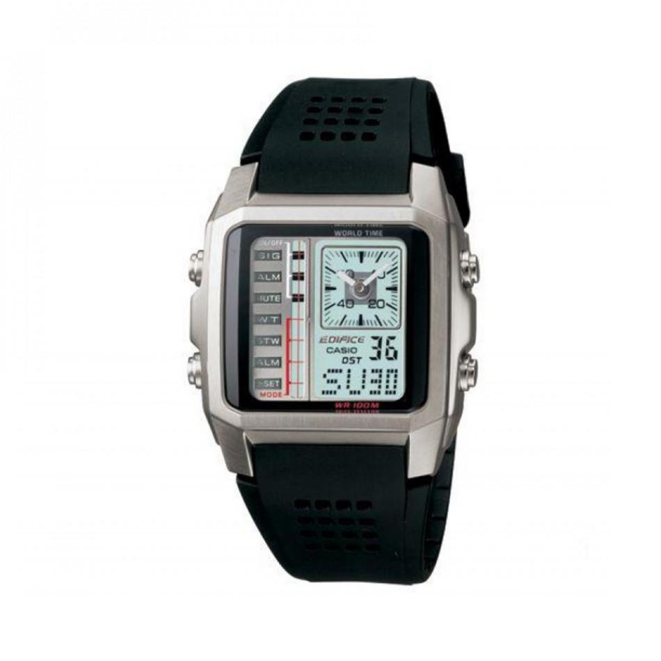 Мъжки часовник Casio Edifice с черна каишка и нестандартен циферблат EFA1247AVEF