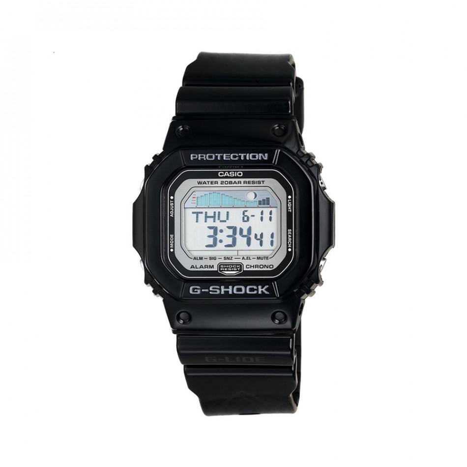 Мъжки часовник Casio G-SHOCK черен с правоъгълен циферблат GLX56001ER