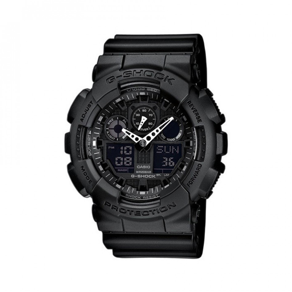 Мъжки спортен часовник Casio G-SHOCK черен с черен дисплей GA1001A1ER