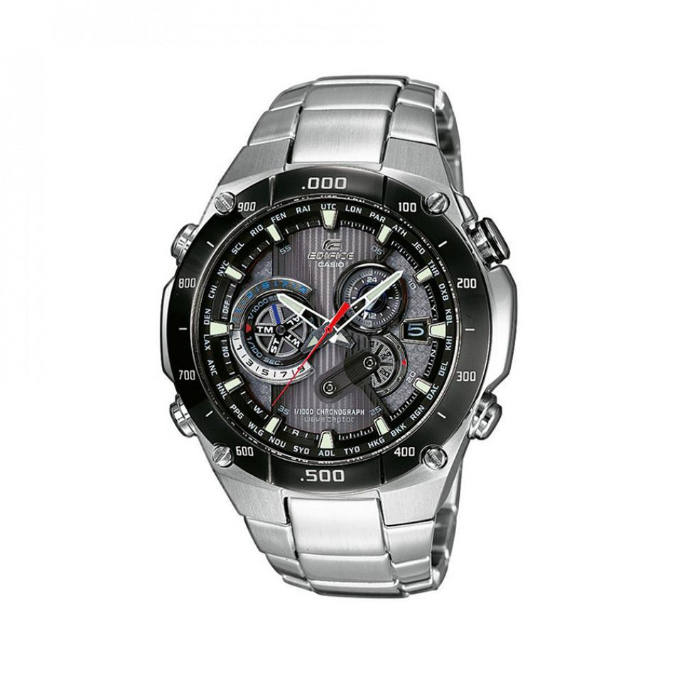 Мъжки часовник Casio Edifice сребрист браслет със соларна батерия EQWM1100DB1AER
