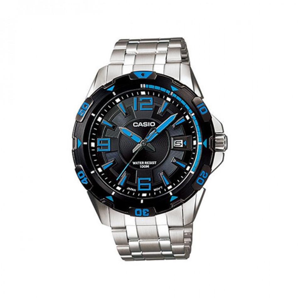 Мъжки часовник Casio Collection сребрист браслет с арабски цифри и индекси MTD1065D1AVEF