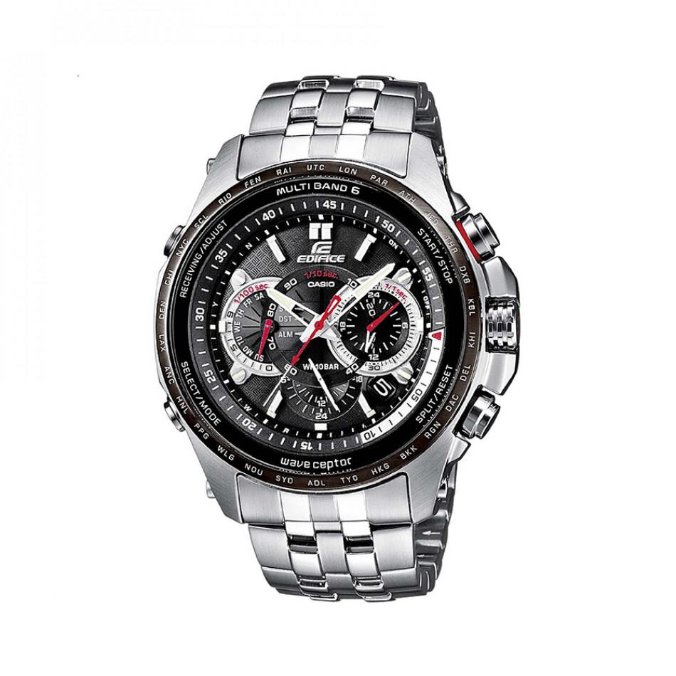 Мъжки часовник Casio Edifice сребрист браслет с дигитален компас EQWM710DB1A1ER