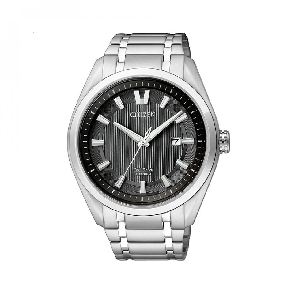 Мъжки часовник Citizen сребрист браслет титаниев AW1240 57E