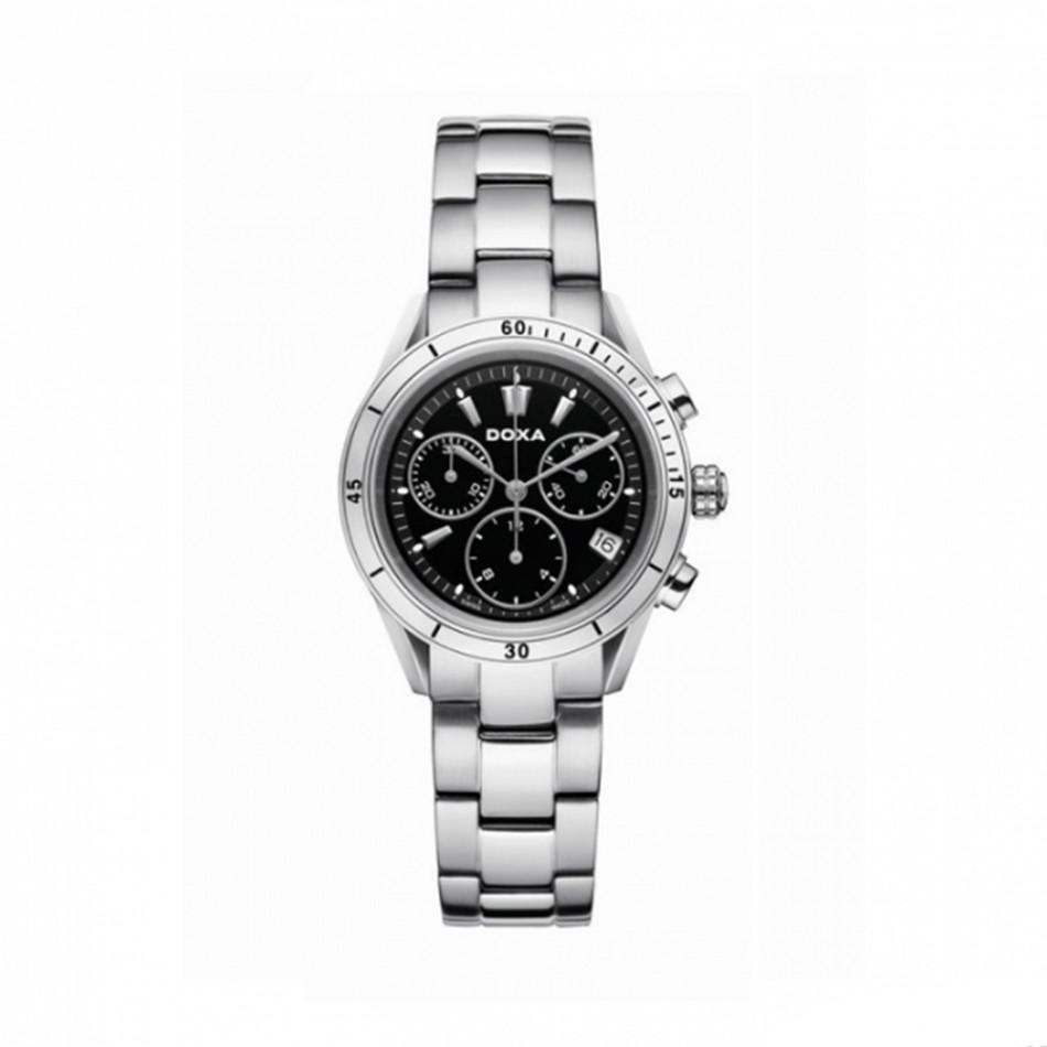 Мъжки часовник DOXA Trofeo сребрист браслет със сребристи стрелки 2781510110