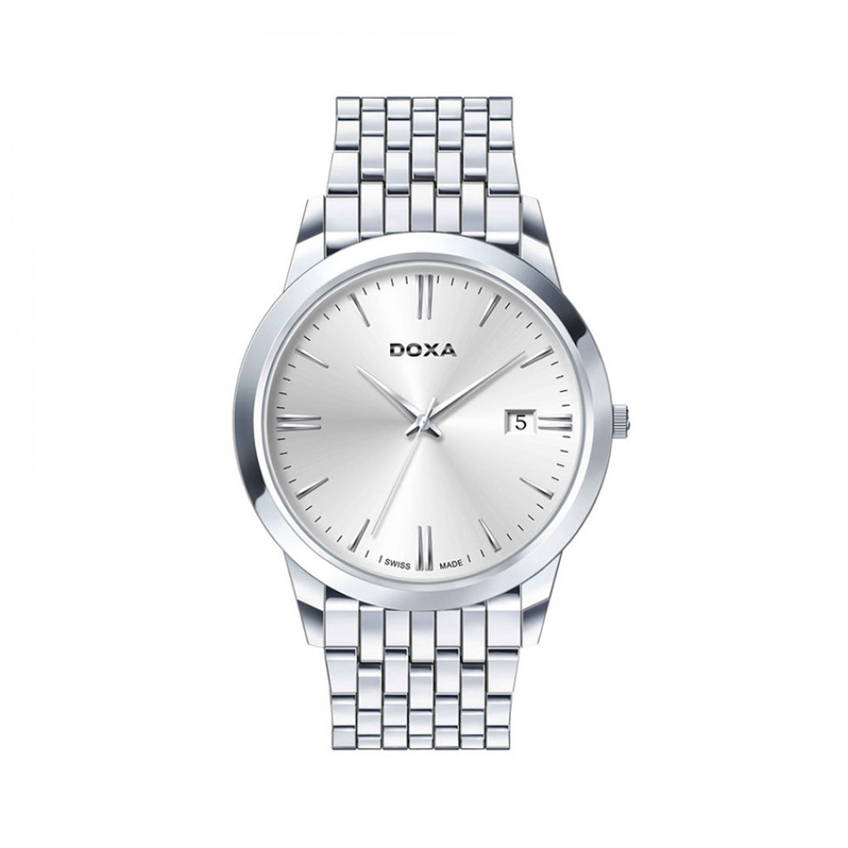 Мъжки часовник DOXA Slim Line сребрист браслет 1061002110