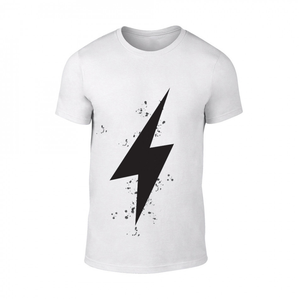 Мъжка бяла тениска Thunder TMN-M-101