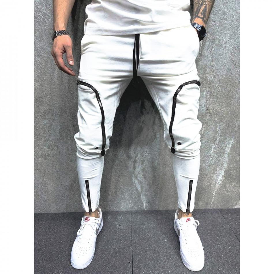 Мъжко бяло долнище 6 джоба tr070721-6