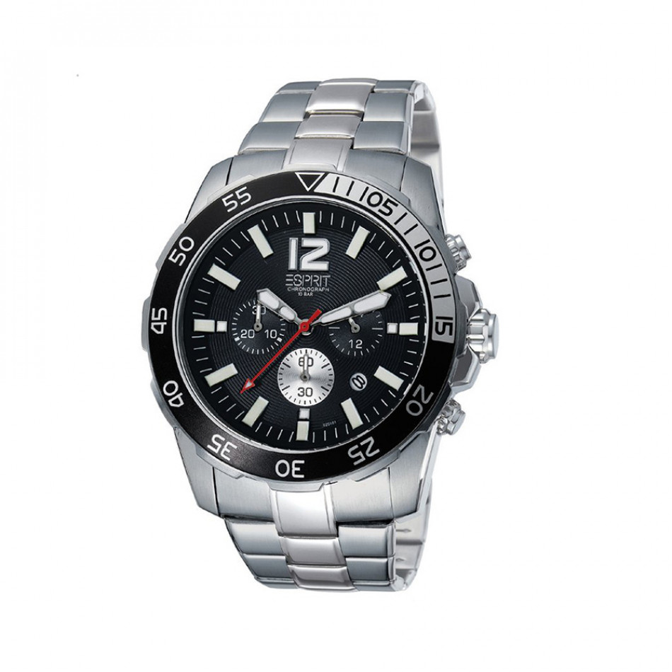 Мъжки часовник Esprit сребрист браслет с червена стрелка за секундите es102511004