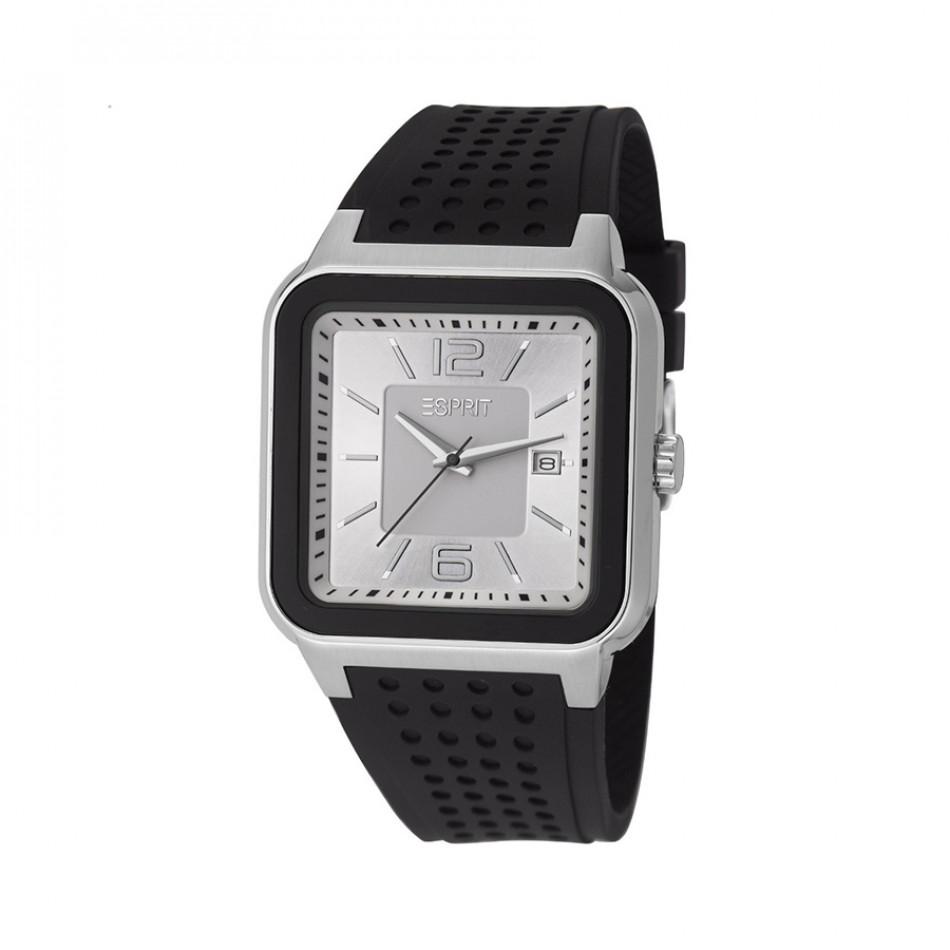 Мъжки часовник Esprit черна каучукова каишка ES105841002