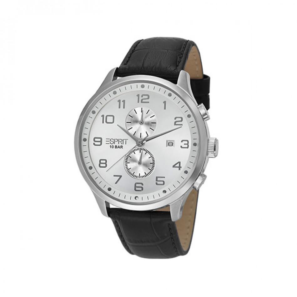 Мъжки часовник Esprit със сив циферблат и черна каишка ES105581002