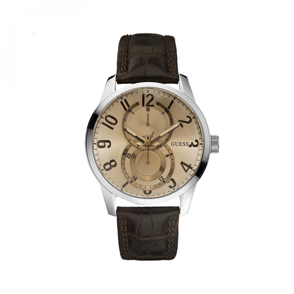 Мъжки часовник Guess със златист циферблат W95127G2