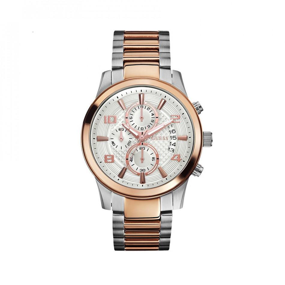 Мъжки часовник Guess браслет в два цвята W0075G2