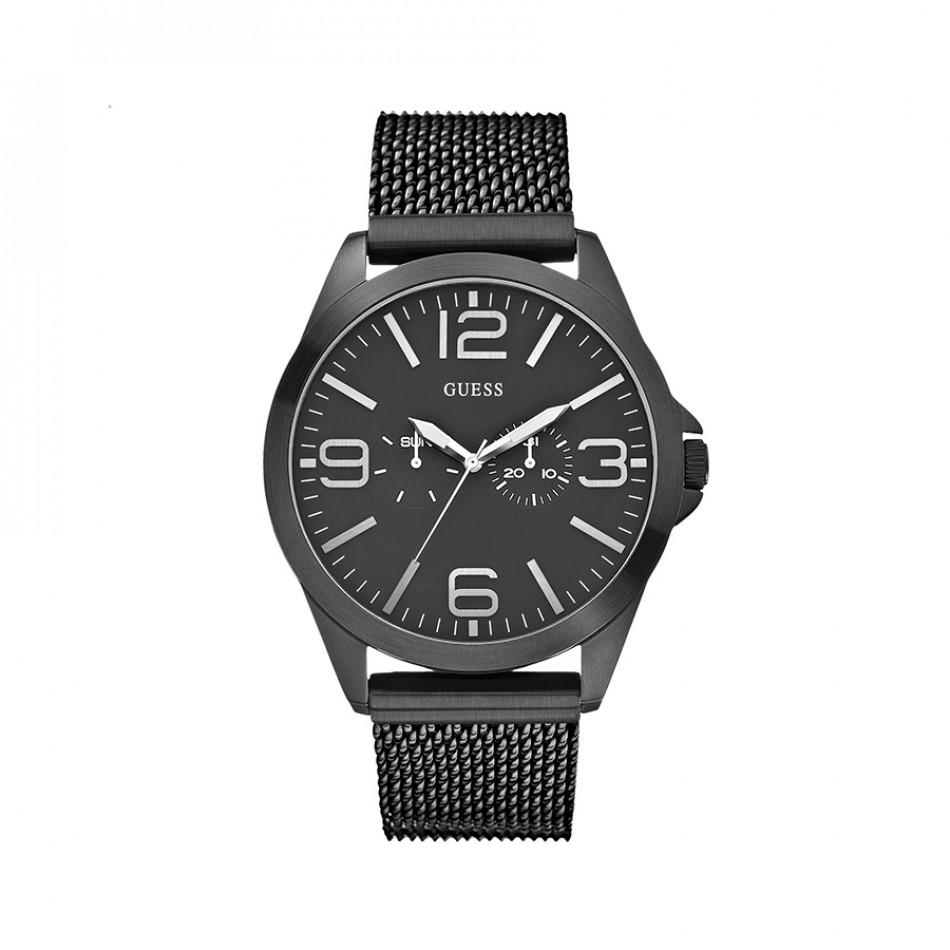Мъжки часовник Guess  черен браслет W0180G2