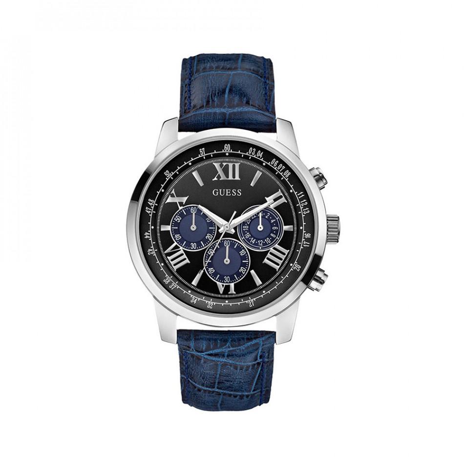 Мъжки часовник Guess със синя каишка W0380G3