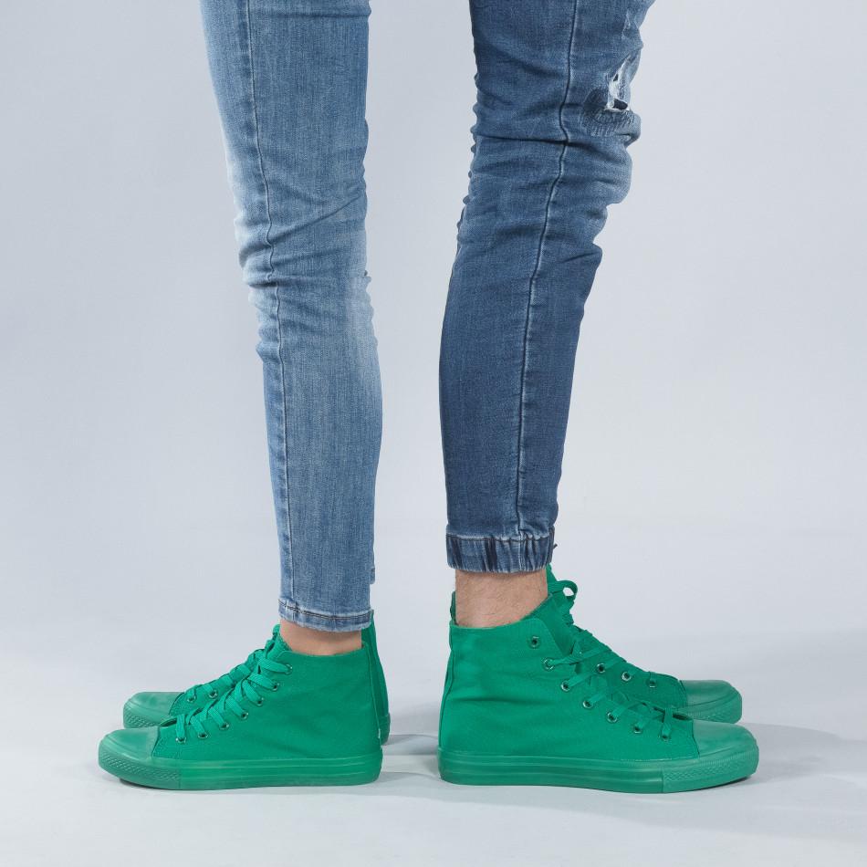 Високи зелени кецове за двойки cs-green-B341-B339