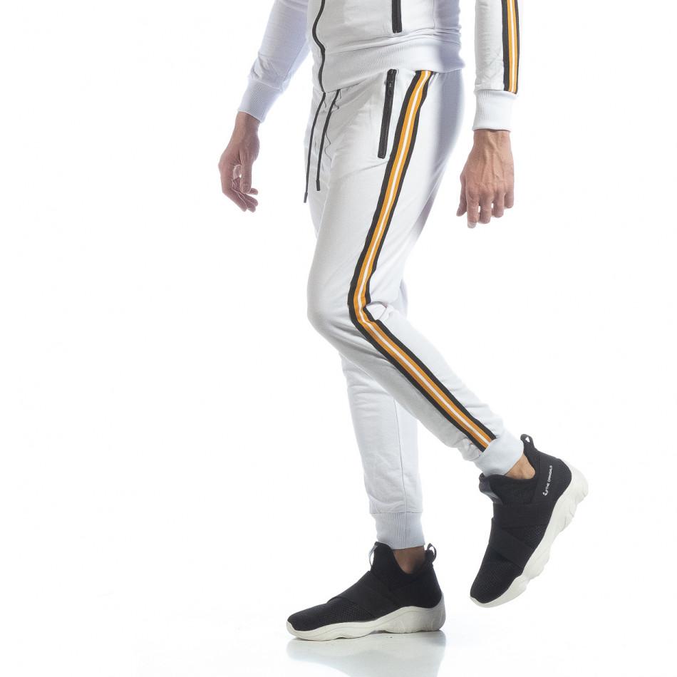 5 striped мъжко бяло долнище it040219-64