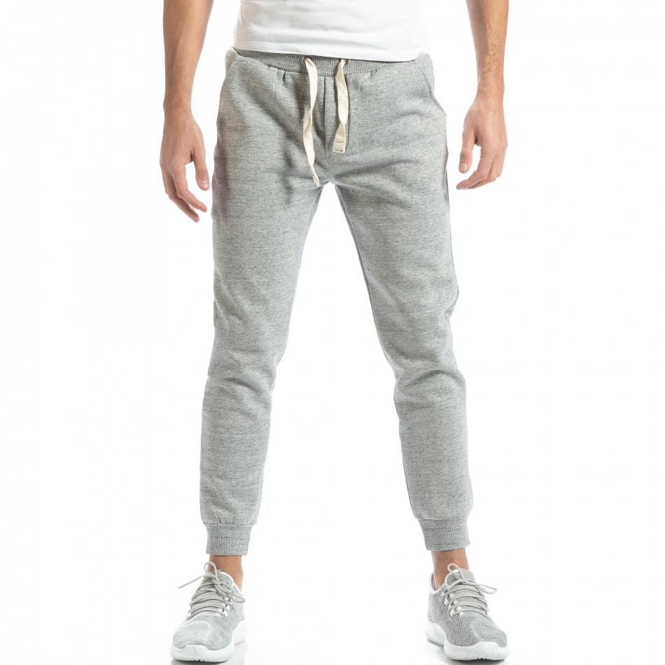 Basic мъжко долнище в сив меланж it051218-16