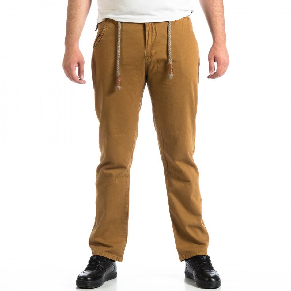 Мъжки панталон House в цвят камел lp290918-154