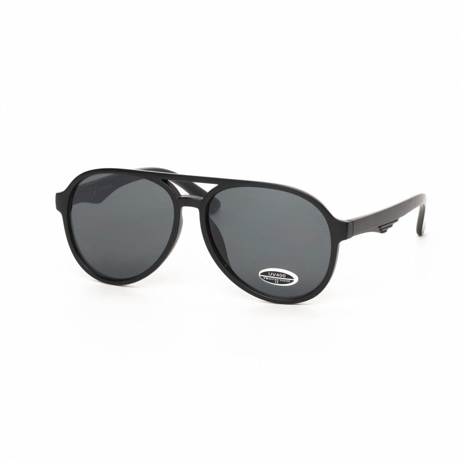 Черни пилотски слънчеви очила масивна рамка it030519-33
