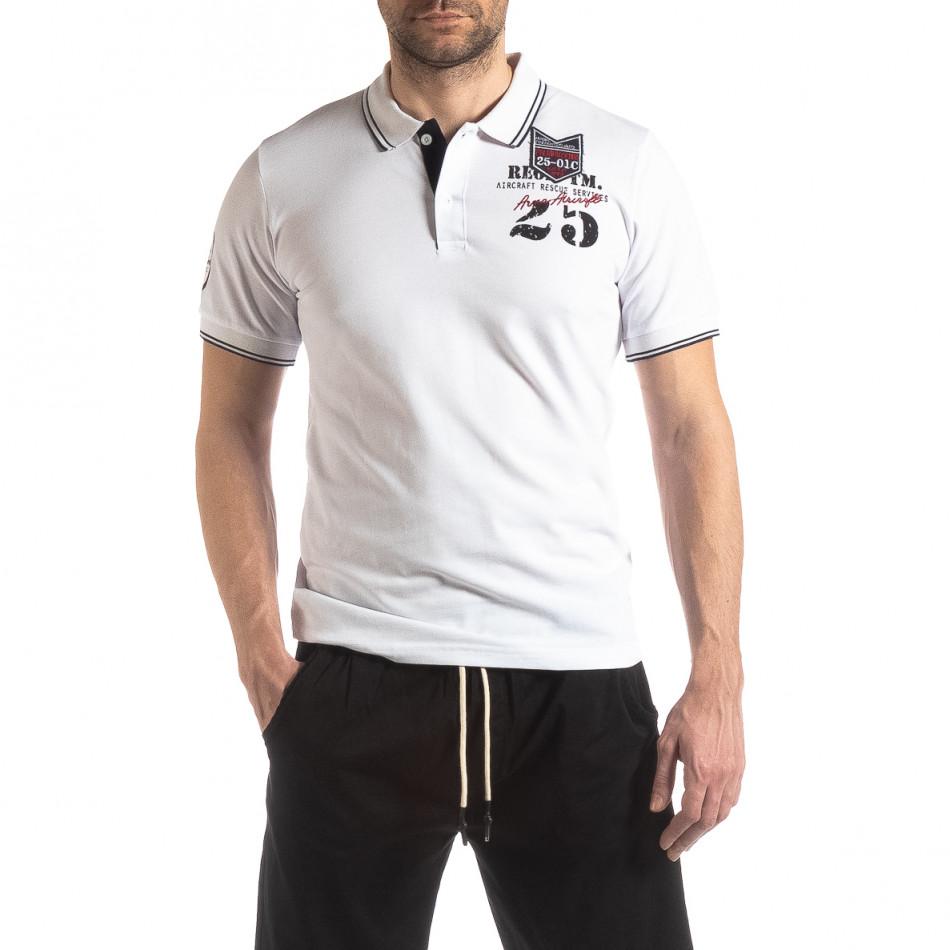 Мъжка тениска polo shirt Royal cup в бяло it210319-75